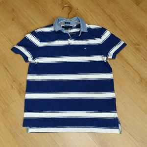 Tommy Hilfiger Slim Fit Men's Striped Polo Shirt